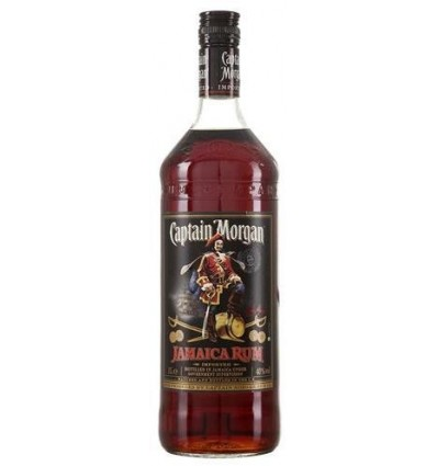 Captain Morgan Black Rum 40% ,1 ltr.