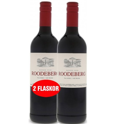 2 x 0,75 ltr. Roodeberg Red 14%