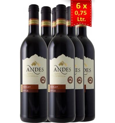 Andes Merlot 6x0,75 ltr, 13%