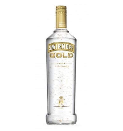 Smirnoff Gold Cinnamon med guldflingor! 1ltr 37.5%