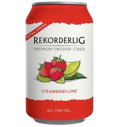 Rekorderlig Strawberry Lime Strong 7% 24x0,33 ltr.