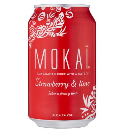 Mokai Strawberry & Lime Cider 4,5% 18x 0,33l
